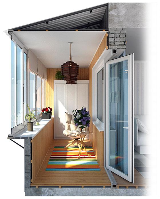 Ремонт остекления балкона