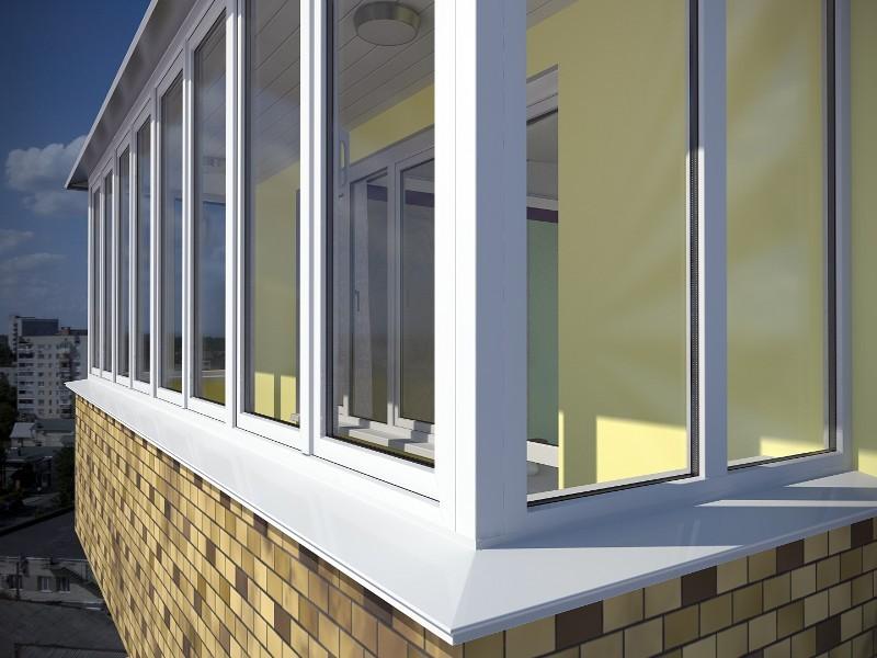 Установка балконных окон